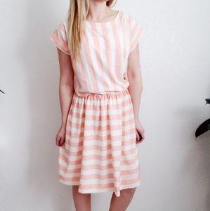 80-90s Vintage Handmade Bold Striped Dress 867